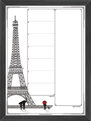New La Tour Eiffel Design Shown on Tailor Made Whiteboard Menu Planner Board