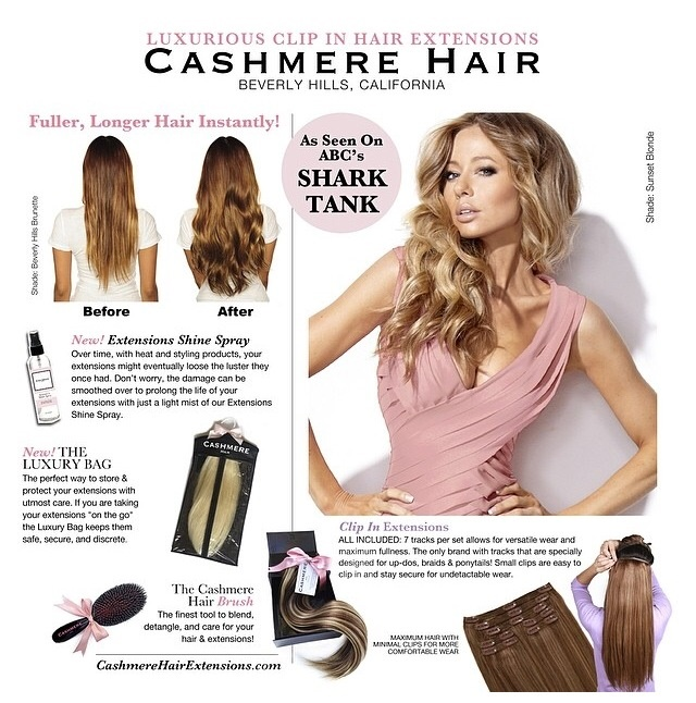 Cashmere Hair Clip In Extensions Announces Their New Length And