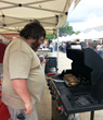 Skip Day grilling at the Bull Burger Battle in Mahopac NY