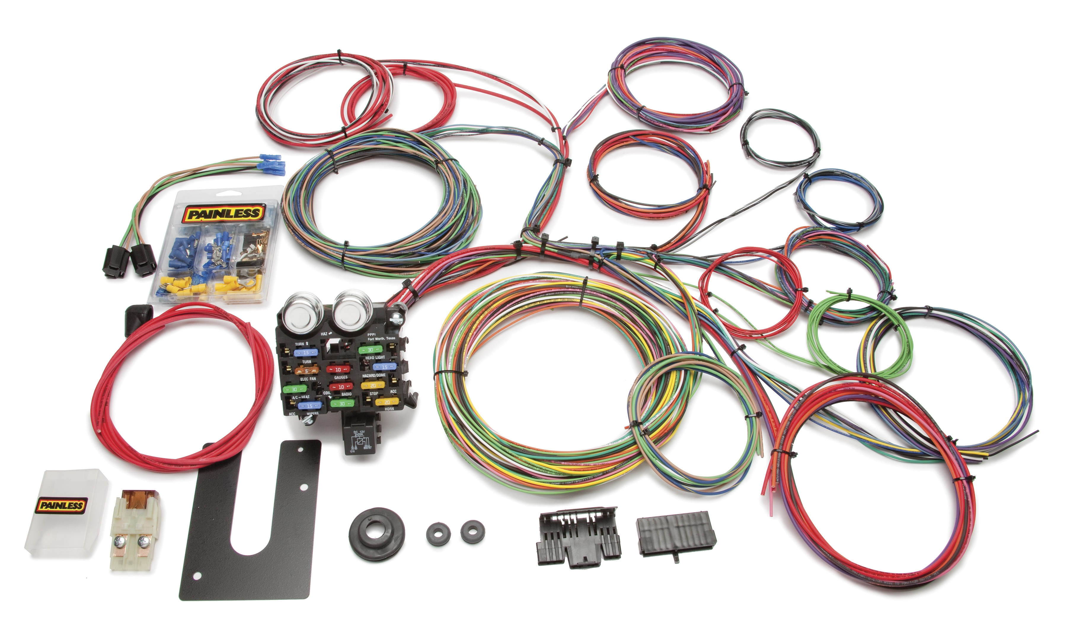 20 Circuit Wiring Harness Solutions New At Summit Racing Equipment Painless Performance Chassis Boat Building Standards Basic Electricity Your Rh Newboatbuilders Com