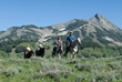 Family horseback ride with Fantasy Ranch Horseback Adventures