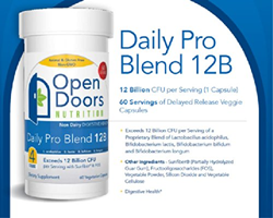 OpenDoors Nutrition Daily Pro Blend 12B Probiotic Supplement for Men and Women