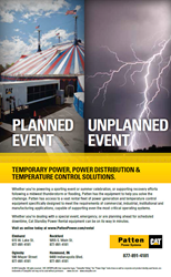 Patten Power Systems Provides Temporary Power, Power Distribution and Temperature Control Solutions