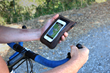 The Cycling Ride Pouch—clear iPhone / smartphone window in action