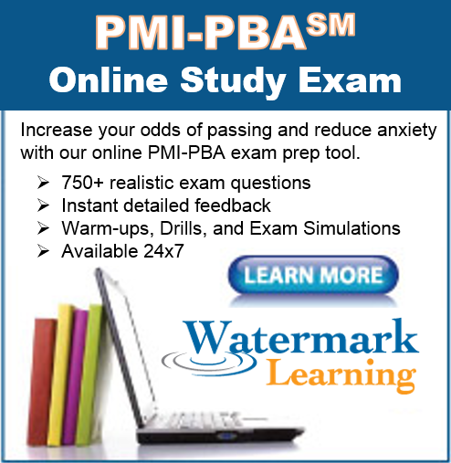 Watermark Learning Launches PMI-PBA Certification Training and PMI