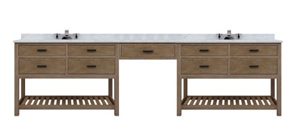 Sagehill Designs Toby 120 Modular Double Bathroom Vanity With Drawerakeup Station