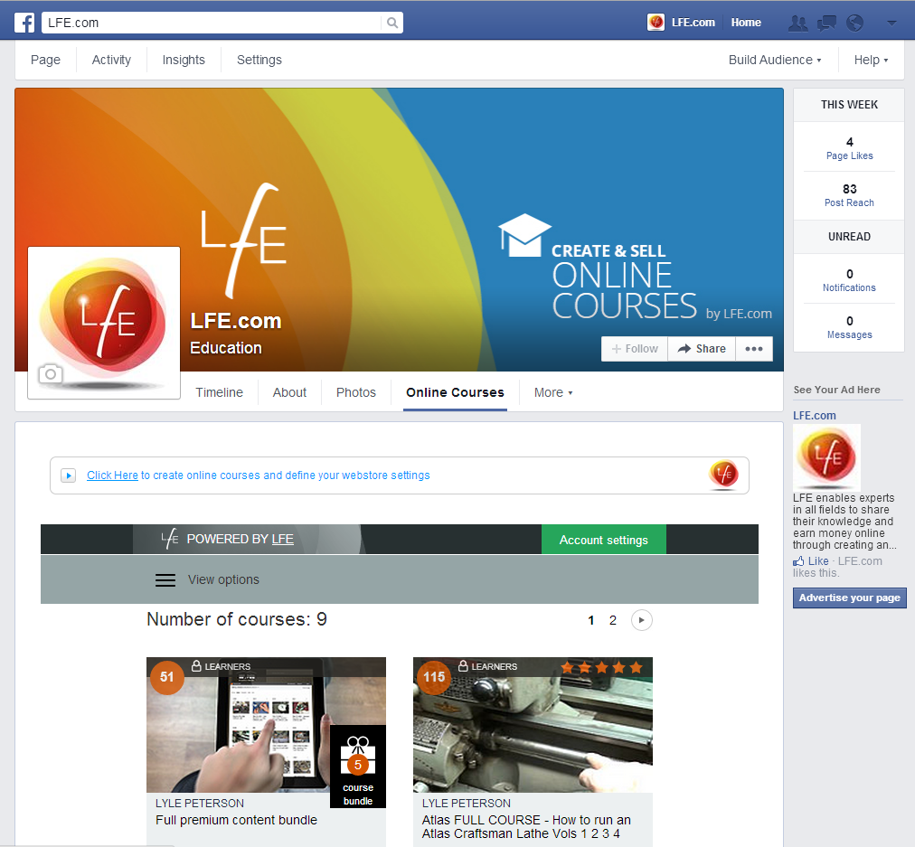 LFE com's New Native Facebook and Wix Mobile Apps Expand Online