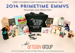 The Artisan Group's signature black swag bag.
