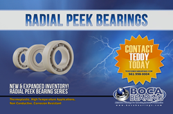 Radial PEEK Ceramic Hybrid Bearings