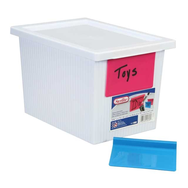 Set of 6 Plastic Storage Boxes with Dry Erase Labels ...  sc 1 st  PR Web & New Classroom Storage Products Now Available on JustPlasticBoxes.com