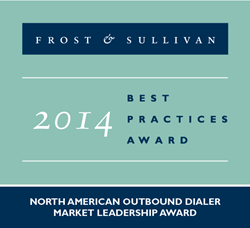 Frost & Sullivan 2014 Outbound Market Leader Award