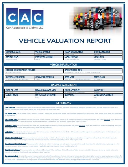 diminished value claim florida diminished value carolina nc s top car appraisal service 16965 | Car Appraisal Claims Appraisal