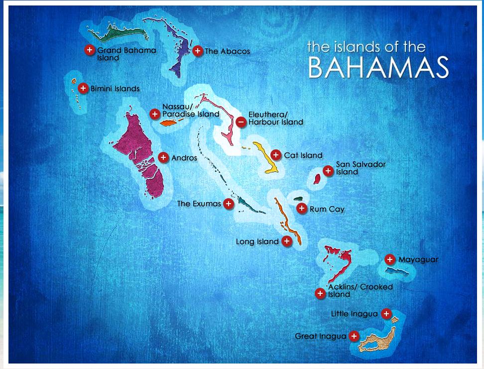 Bahamas Islands On World Map