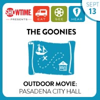 LA outdoor movie company presents the goonies