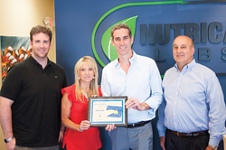 Nutricap Labs Make-A-Wish Fundraising Plaque Presentation