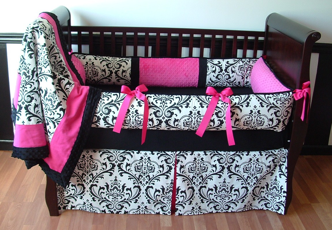 Alexandra Damask Or Boy Custom Crib Bedding Can Be Made In Any Color Baby Sets