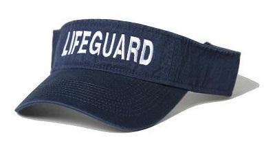6a353447b891 WHITE LIFEGUARD VISOR RED LIFEGUARD VISOR Navy Blue Lifeguard Visor ...