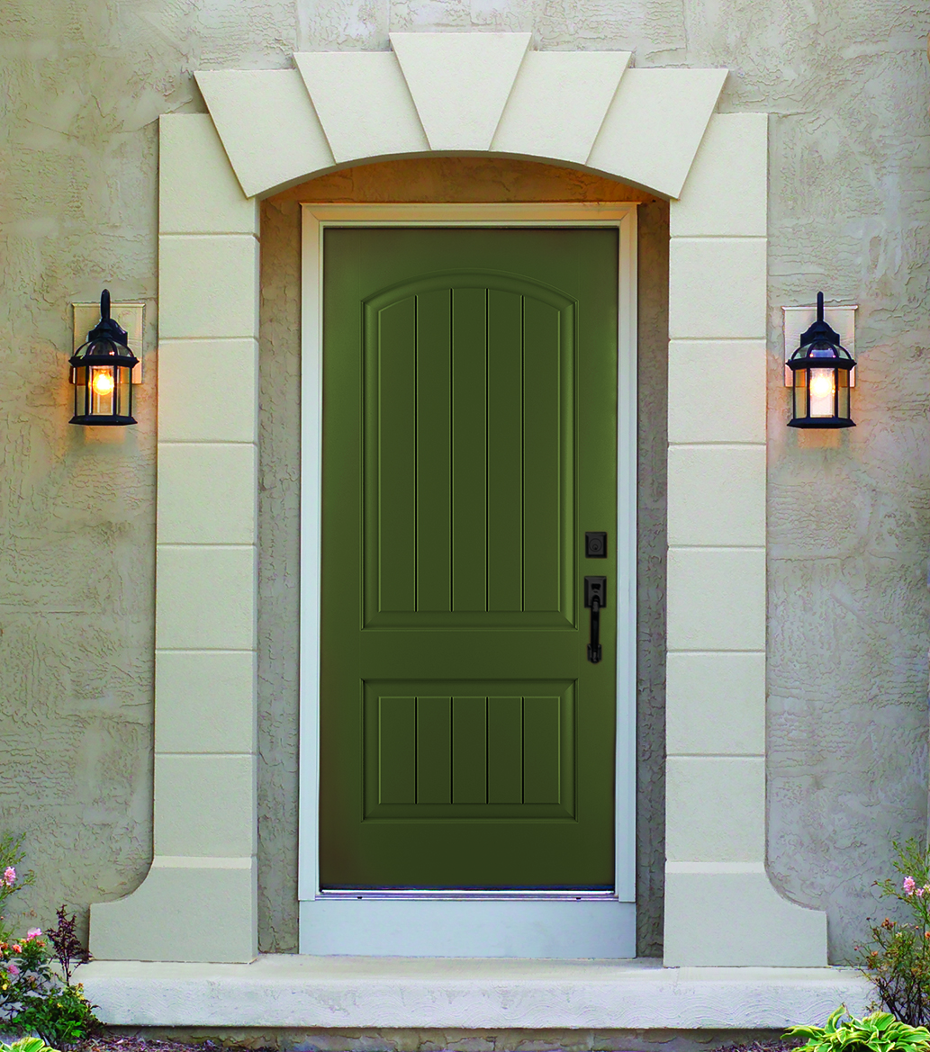 Thyme Green Color On Therma Tru Classic Craft Canvas Collection Door