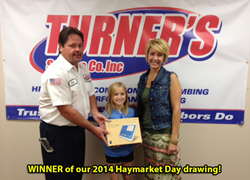 WINNER of Our 2014 Haymarket Day Drawing