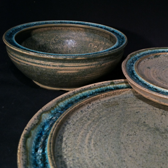 Handmade Plates and Serving WareRecycled glass fused pottery dinnerware serving platters & Paloma Pottery Celebrates the Harvest Season with Discounts on All ...