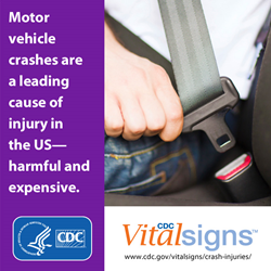 Motor vehicle crashes are a leading cause of injury in the US - harmful and expensive.