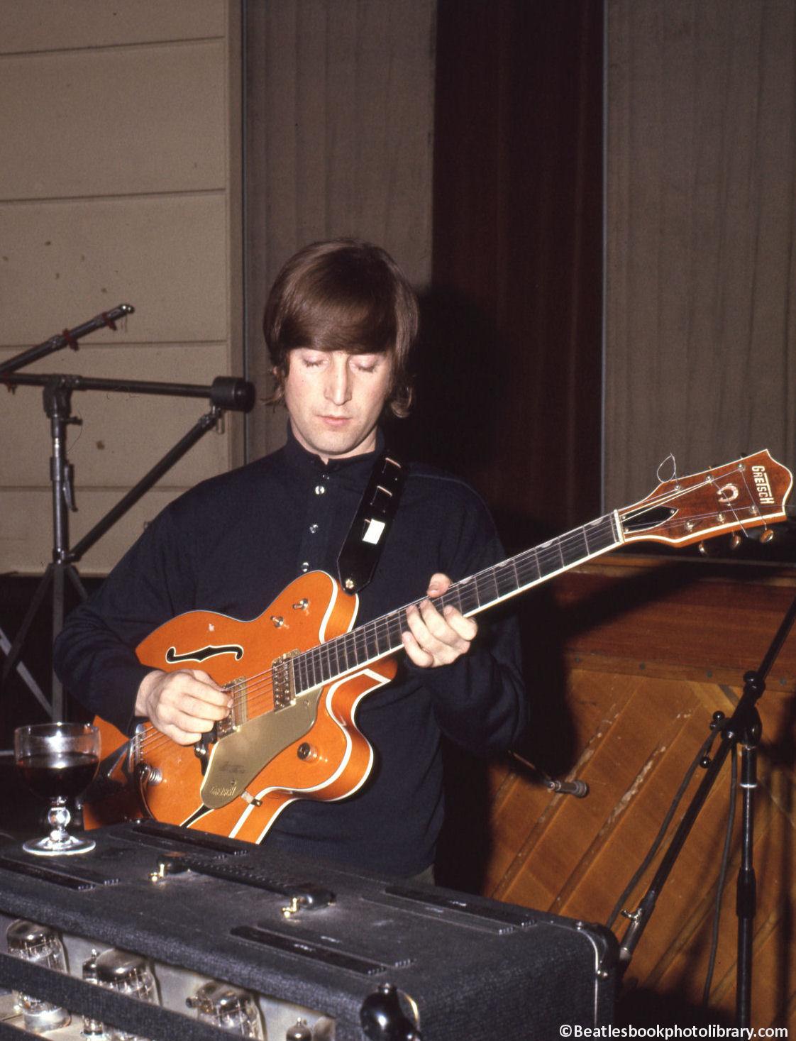 John Lennon With The Gretsch 6120 EMI Studio 3 14th April 1966