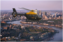 EC135T2 NPAS helicopter over London with Wescam MX-10