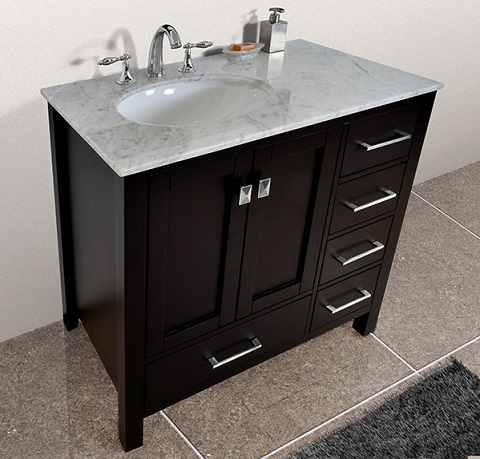 Homethangs Com Has Introduced A Guide To Asymmetrical Bathroom Vanities With Offset Sinks
