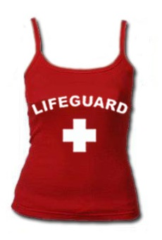 c067b75b0a6d2b RED WOMEN S LIFEGUARD TANK TOPThis is a fitted spaghetti strap. For the  extra hot days.