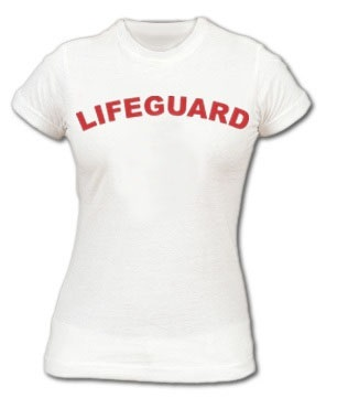 7bb1b6a53438 RED WOMEN S FITTED LIFEGUARD T-SHIRTA snug fit made by American Apparel ...