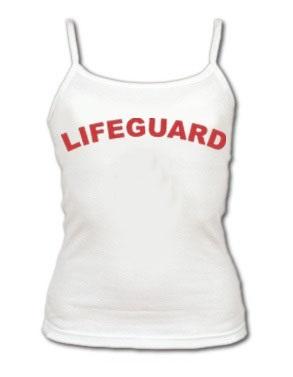 5a2ba6d225ed63 WHITE LIFEGUARD WOMEN S TANK TOPThis is the white lifeguard spaghetti strap  LIFEGUARD MASTER