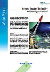 "New White Paper from METTLER TOLEDO on Obtaining Greater Process Reliability with ""Intelligent"" Sensors"