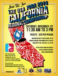 Eros Sport attends The USA Yoga 2014 California Regional Championship