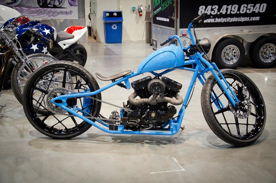 Ray Price Motorsports Expo Robbie Closson on 1974 Sportster Bobber