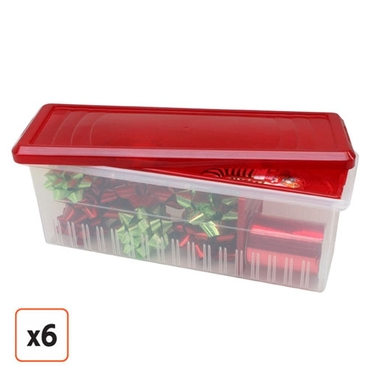 Ribbon Storage Box by IRIS Pack of 6 ...  sc 1 th 225 & JustPlasticBoxes.com Rolls Out New Line of Christmas Storage Boxes