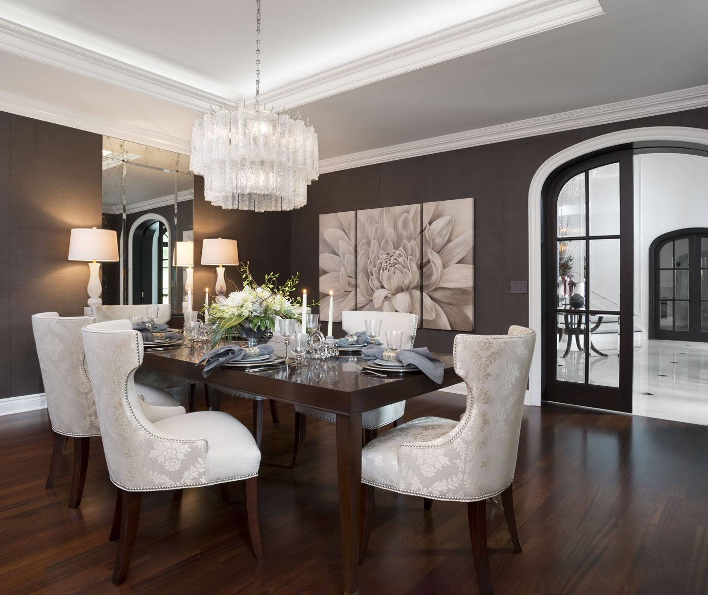 Traditional Dining Room: Tutto Interiors, A Michigan Interior Design Firm, Receives