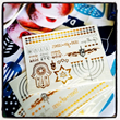 Hanukkah Metallic Temporary Tattoos are similar to the popular Flash Tattoos™ and a best-seller this season.