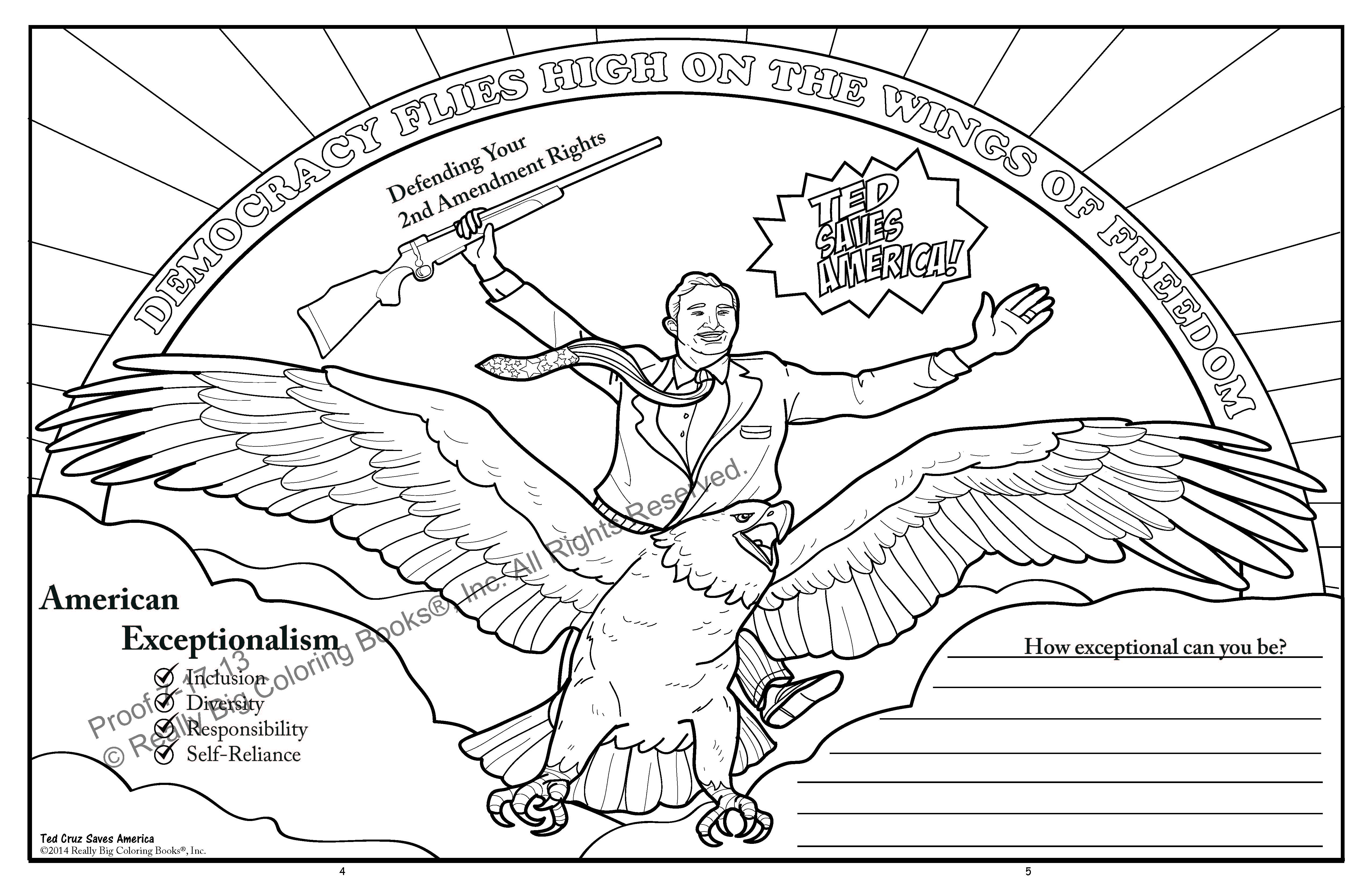 Ted Cruz to the Future Coloring Book Selling Strong Proves ...