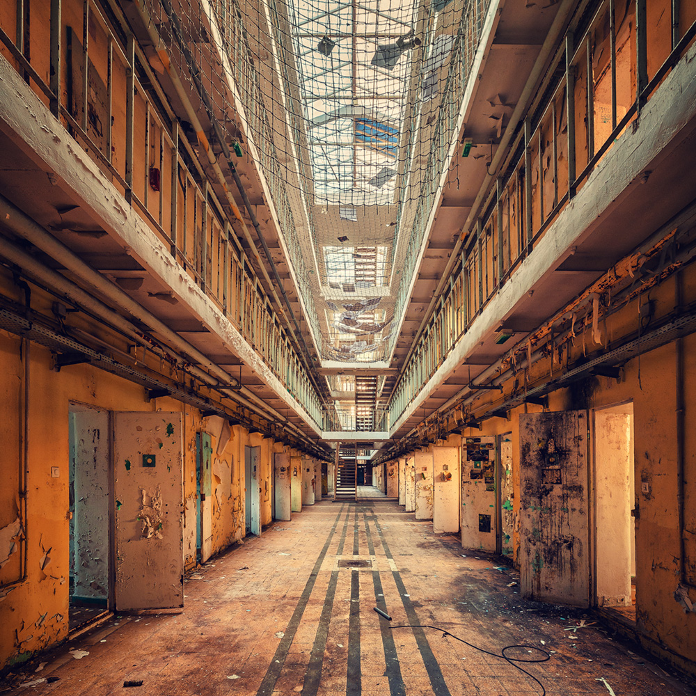 backdrops backdrop printed buildings abandoned desolate penitentiary express building line backdropexpress printing grunge rustic launches