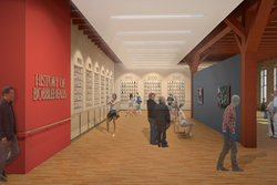National Bobblehead Hall of Fame and Museum Rendering of History of Bobbleheads Exhibit