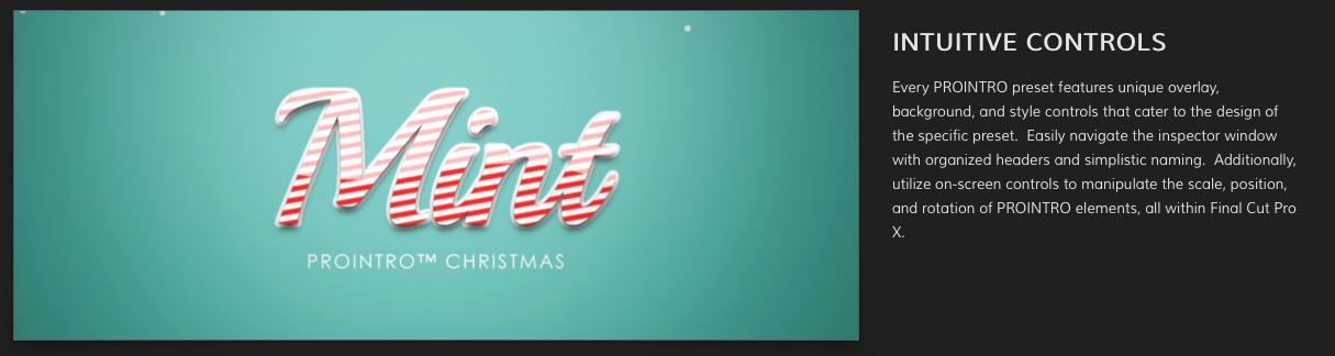 Pixel Film Studios released ProIntro Christmas plugin for Final Cut