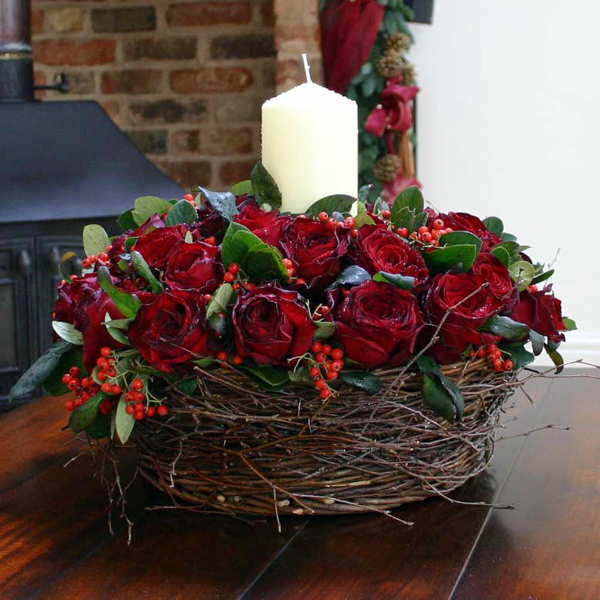 Hot winter flower arrangements and seasonal treats by flowers24hours artificial christmas centerpiece christmas flowers christmas flower arrangements and decorated christmas trees by london flower delivery shop mightylinksfo