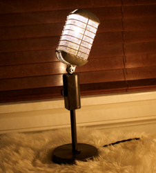 Vintage Microphone Light Available