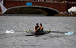 Sara Hendershot and Taylor Ritzel compete at the Head of the Charles Regatta in Boston