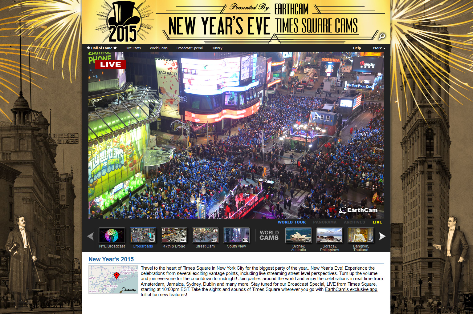 Travel the globe for the final countdown to 2015 with earthcams ring in the new year with earthcams live times square cams gumiabroncs Gallery
