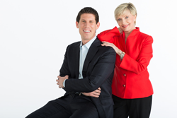 Medical Guardian CEO, Geoff Gross, with Spokesperson Florence Henderson