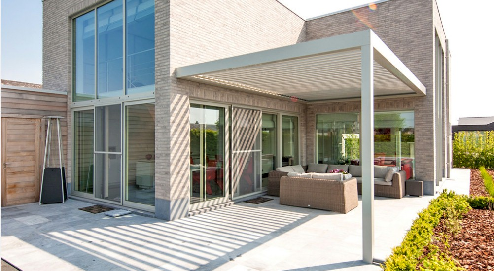 Revolutionary Energy Efficient Adjule Patio Roof Is Now American Louvered Systems