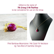 Pink Rainbow Moonstone Necklace by Starletta Designs as seen on The Young & the Restless