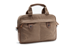The Bolt Briefcase—Small in tan waxed-canvas with grizzly details