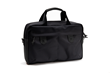 Bolt Briefcase—large, black ballistic nylon with black leather accents